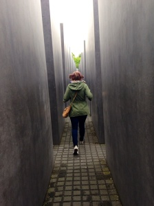 Hannah at the Memorial to the Murdered Jews of Europe