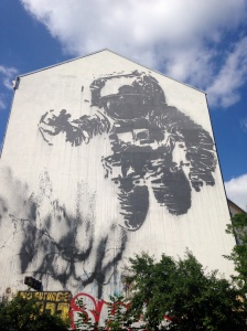 Victor Ash's astronaut: iconic stencil street art in Berlin